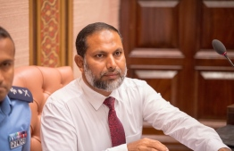 Minister of Home Affairs Imran Abdulla in Monday's parliament sitting. PHOTO: PARLIAMENT