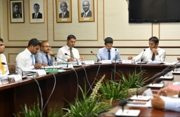Members of the State Owned Enterprises (SOE) Committee of Parliament. The committee proposed certain measures to ensure utilities for the public amidst the COVID-19 pandemic. PHOTO: MIHAARU