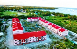 Flats constructed in Hulhumeedhoo under the government housing scheme. PHOTO: MIHAARU FILES