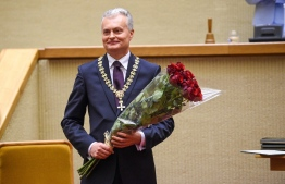 Gitanas Nauseda, the new President of Lithuania, following his oath taking ceremony. PHOTO: TWITTER