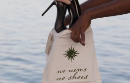 One of the many types of cloth bags in use at Soneva Fushi. PHOTO: SONEVA
