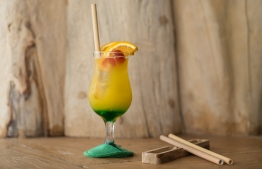 Bamboo straws used at Soneva resorts. PHOTO: SONEVA