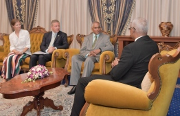 Special Envoy of Seychelles paying a courtesy call to President Ibrahim Mohamed Solih. PHOTO: PRESIDENT'S OFFICE