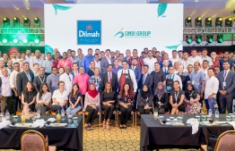 Group photo taken with some of the attendees of the Dilmah Tea Appreciation Day event held in collaboration with SIMDI Group in Kurumba Maldives. PHOTO: SIMDI