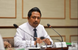 Parliamentarian Imthiyaz Fahmy who submitted the case to the Parliament. PHOTO: HUSSAIN WAHEED / MIHAARU