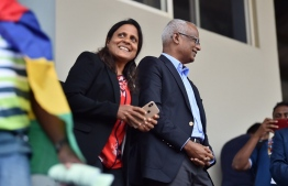 President Ibrahim Mohamed Solih and First Lady Fazna Ahmed during their attending IOIG2019 during their visit to Mauritius. PHOTO: PRESIDENTS OFFICE