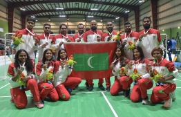 National Women and Men's Team win bronze medals in their respective contests in IOIG 2019. PHOTO: NISHAN ALI/MIHAARU.