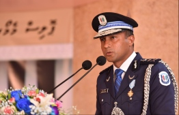 Commissioner of Police (CP) Mohamed Hameed. PHOTO: HUSSAIN WAHEED/ MIHAARU