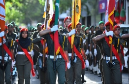 Every year, crowds gather excitedly to watch officers and recruits from Maldives Police Service, Maldives National Defence Force, Maldives National Cadet Corps and Band, march and perform music. The parade is one of the most widely attended festivities that takes place on the country's Independence Day, which has been celebrated annually on July 26, since 1965. PHOTO: HUSSAIN WAHEED / MIHAARU