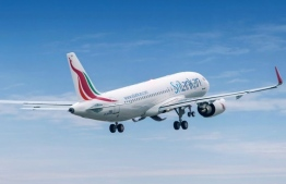 A flight operated by Sri Lankan Airlines.