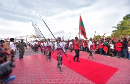 The IOIG 2019 delegation being welcomed back to Maldives. PHOTO: HUSSAIN WAHEED/ MIHAARU