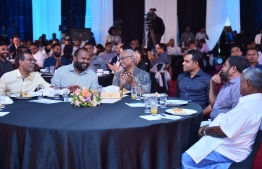 President Ibrahim Mohamed Solih and Minister of Tourism Ali Waheed participating in the inauguration ceremony of the government's Master Plan for tourism. PHOTO: PRESIDENT'S OFFICE