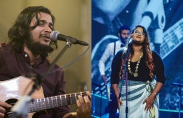 Famous musicians Nishfa Nashid (R) and Mohamed Yoosuf (L) departed to Switzerland on a month-long tour on Tuesday. PHOTO: VARIOUS / THE EDITION