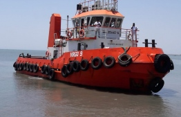 The tugboat aboard which former vice-president Ahmed Adeeb attempted to escape. PHOTO: INDIAN MEDIA