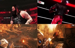 Professional work done for WWE 2k19 (top) and Gears of War Ultimate Edition (bottom). PHOTO: AHMED AFAZIL
