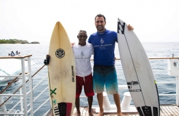Local wildcard Mohamed Fayaz displayed his best performance at this edition of the Four Seasons Maldives Surfing Champions Trophy. PHOTO: SURFINGCHAMPIONSTROPHY.COM