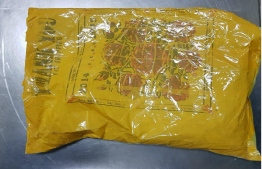 This package of heroin weighing 1.52 kilograms was seized by Maldives Customs Service on Friday.