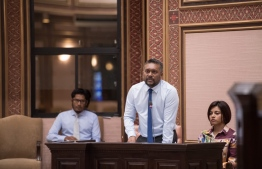 Minister of Economic Development Fayyaz Ismail speaking at Parliament on Wednesday. PHOTO: PARLIAMENT