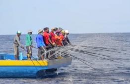 Maldivian fishermen. PHOTO: DHIVEHI MASVERIN / TWITTER