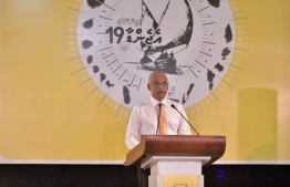 President Ibrahim Mohamed Solih speaking at the MDP Councilors Conference. PHOTO: PRESIDENT'S OFFICE