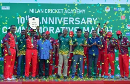 Cricket match held in celebration of MCA's 10th anniversary. PHOTO: PRESIDENTS OFFICE