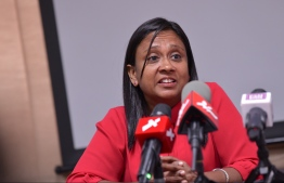 Minister of Fisheries, Marine Resources and Agriculture Zaha Waheed. PHOTO: MIHAARU