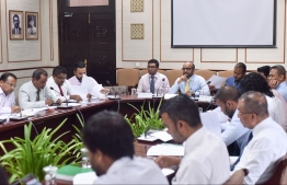 The parliament's budget committee reviews the government's proposal to extend the state budget by MVR 1.7 billion on August 25, 2019. PHOTO: NISHAN ALI / MIHAARU