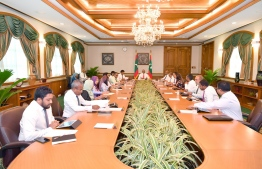 An ongoing cabinet meeting. PHOTO: PRESIDENT'S OFFICE