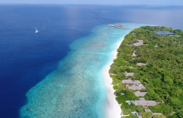 Aerial view of Soneva Fushi in Baa Atoll. PHOTO/SONEVA