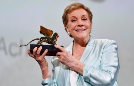 British actress Julie Andrews acknowledges receiving on September 2, 2019 a Golden Lion for lifetime achievement during a ceremony at the 76th Venice Film Festival at Venice Lido. (Photo by Alberto PIZZOLI / AFP)