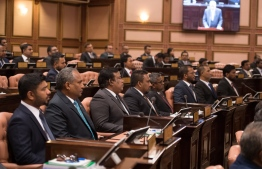 Lawmakers pictured during the September 3, 2019 parliament sitting, during Sri Lanka Prime Minister Ranil Wickremesinghe's address. PHOTO/MAJILIS