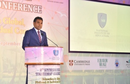 Vice President Inaugurates 5th International Teacher's Conference at Addu City. PHOTO: PRESIDENTS OFFICE