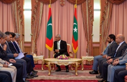 New Indian External Minister meets President Solih. PHOTO: PRESIDENTS OFFICE