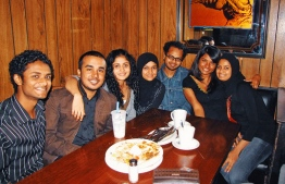 Rukhsa and friends at one of their favorite waffle houses. PHOTO: RUKHSA