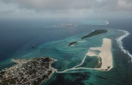 MTCC announced that the reclamation project for the construction of the airport at Hoarafushi, Haa Alif Atoll, has concluded. Over 350,000 square metres of land was reclaimed for the project. PHOTO: AHMED SALEEM.