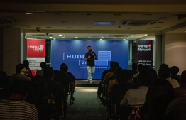 Sparkhub's Creative Director Shazif Adam during the 'Huddle' event hosted on Wednesday. PHOTO: SPARKHUB