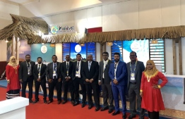 Members of the Maldivian delegation to the  MATTA Fair in Malaysia. PHOTO: MALDIVES MARKETING AND PUBLIC RELATIONS COMPANY (MMPRC)