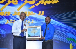 President Ibrahim Mohamed Solih attends the golden jubilee celebration event of Alifushi School in Raa Atoll. PHOTO: PRESIDENT'S OFICE