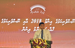 In his speech at the Journalism Award Ceremony 2018 organised by the Maldives Media Council, Vice President Faisal Naseem highlighted press freedom and its vital role in the democratic process of a nation. PHOTO: PRESIDENT'S OFFICE.