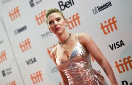 "Actress Scarlett Johansson attends the special screening of ""Jojo Rabbit"" during the 2019 Toronto International Film Festival Day 4 at the Princess of Wales Theatre on September 8, 2019, in Toronto, Ontario.  VALERIE MACON / AFP"