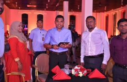 VIce President Faisal Naseem (C) launches Fannu Expo 2019. PHOTO/PRESIDENT'S OFFICE