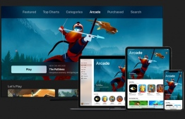 Apple Arcade differs from rivals by offering unlimited access for a flat monthly price to more than 100 exclusive games uninterrupted by ads or the hawking of virtual goods. PHOTO: APPLE
