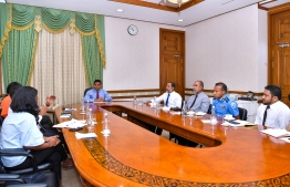 Vice President Faisal Naseem meets with relevant authority officials to discuss ways to deal with islamophobia, extremism and religious tensions in the country. PHOTO: PRESIDENT'S OFFICE