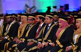 Class of 2019: Graduates from Maldives National University (MNU). PHOTO: PRESIDENT'S OFFICE