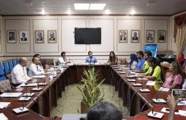 Members of parliament's Environment Committee meeting with 11 volunteers from the strike. PHOTO: SAVE MALDIVES