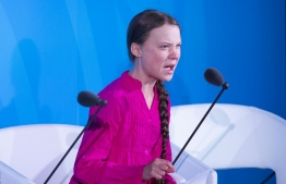 Youth Climate activist Greta Thunberg speaks during the UN Climate Action Summit on September 23, 2019 at the United Nations Headquarters in New York City. (Photo by Johannes EISELE / AFP)