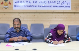 Planning Ministry awards project to develop outer seawall of GA.Maamendhoo to SAS E Construction. PHOTO/PLANNING MINISTRY