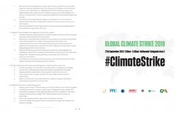 Part two of the 'Less Talk More Action' demand list released by the NGO alliance calling for action over the looming climate crisis.