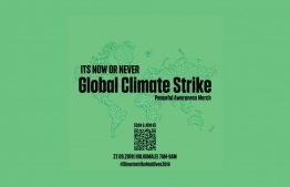 Local NGOs and private businesses are joining together to host an event as part of the Global Climate Strike week on reclaimed suburb Hulhumale'. PHOTO: CLIMATESTRIKEMALDES / NGO ALLIANCE
