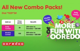 Poster for the new Combo Pack add-ons offered by Ooredoo. PHOTO: OOREDOO